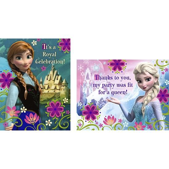 Nice Party Supplies Disney Frozen Invitations & Thank-You Postcards just added...