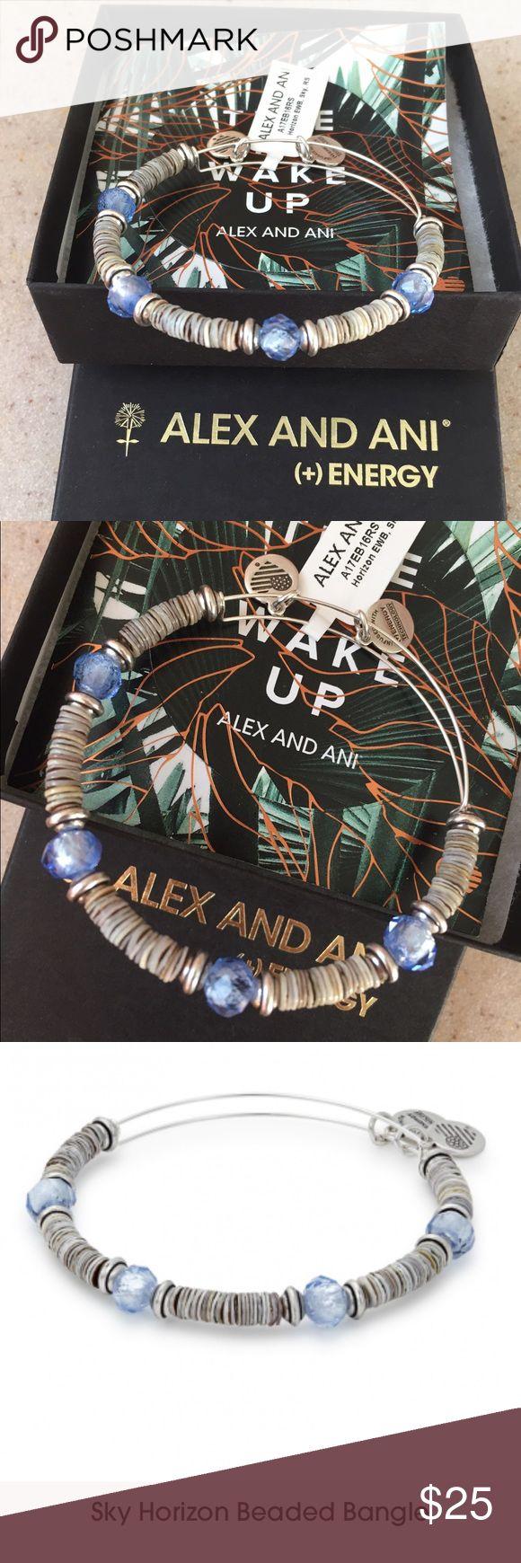 NEW Alex and ani bracelet: sky horizon bangle Sky Horizon beaded bangle: new authentic Alex and ani bracelet. Rare item, not many in stores. Brand new item with tags still attached Alex & Ani Jewelry Bracelets
