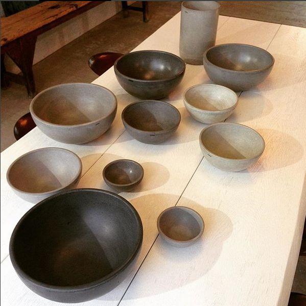 beton. mísy CREER od českého výrobce / concrete bowls from a Czech brand CREER