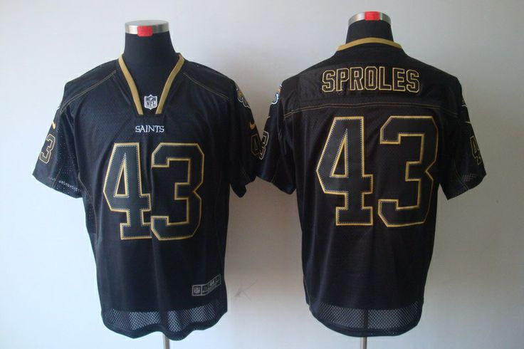 SPROLES saints NIKE lights out style jersey
