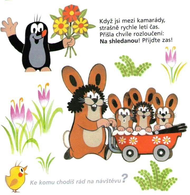 (2016-11) Muldvarpen hilser på haren, der kører 3 unger i barnevogn