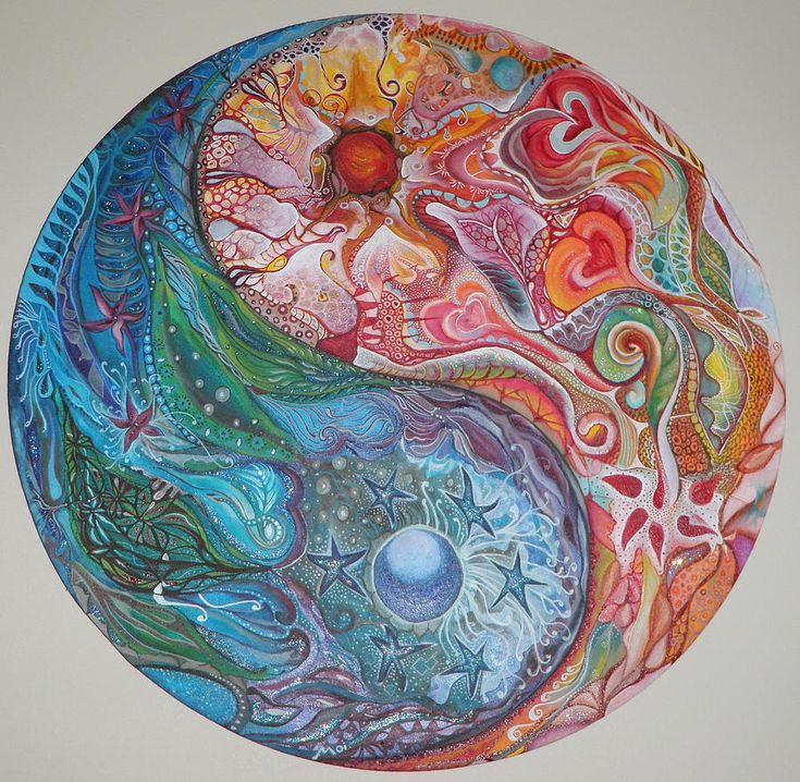 JG: Corresponds with stage 6 of the Great Round of Mandala Dragon Fight / Igniting the Inner Fire  Yin Yang Mandala by Moira Gil