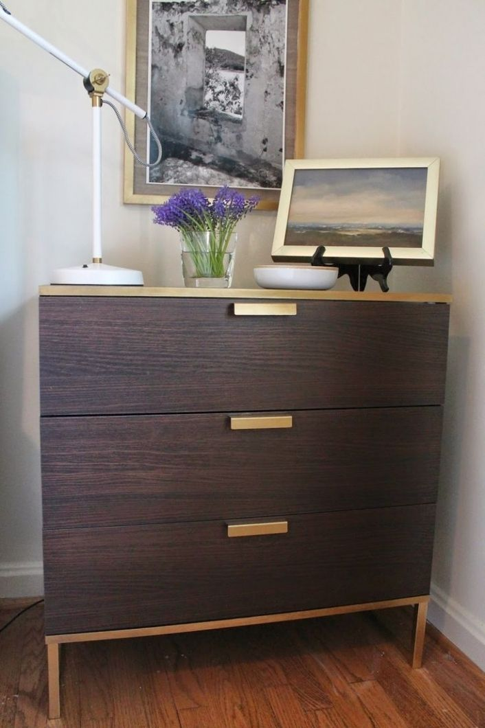 best 25 ikea hack nightstand ideas on pinterest ikea 3 drawer dresser white gold nightstand. Black Bedroom Furniture Sets. Home Design Ideas