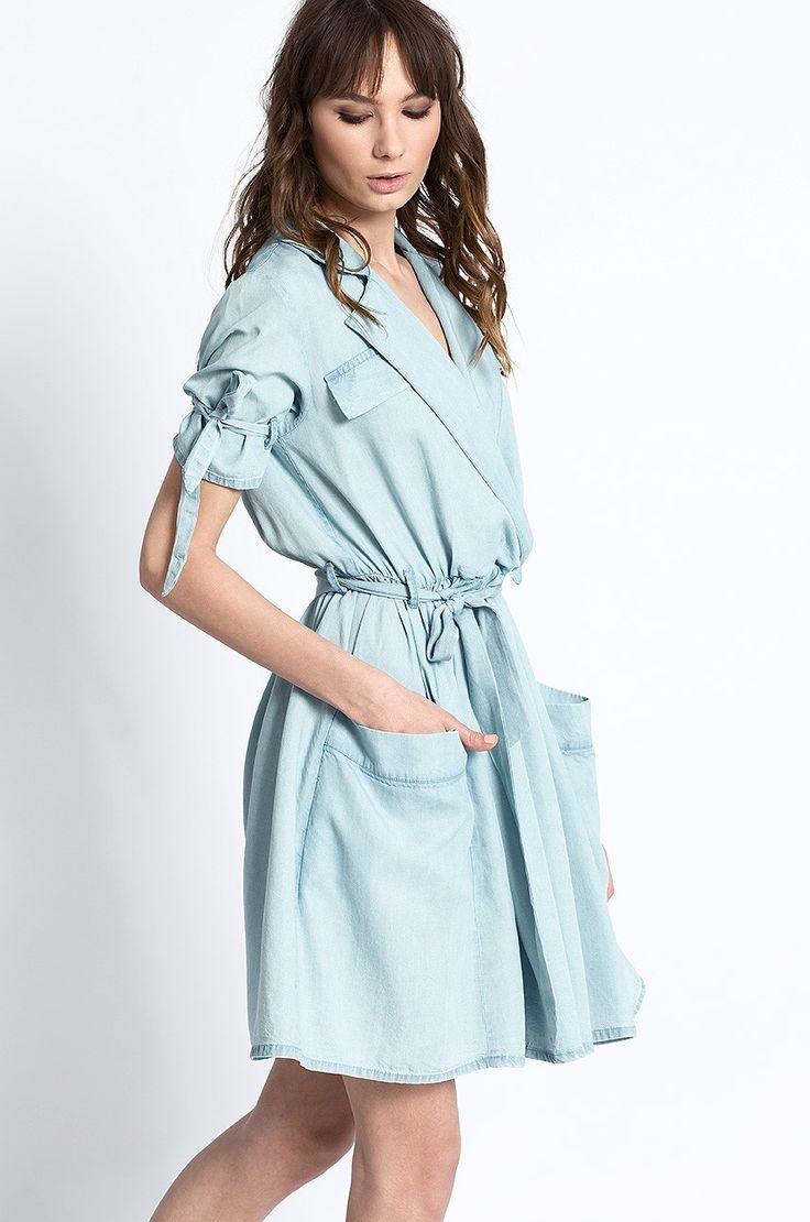 Medicine - Sukienka jeansowa koszulowa Artisan