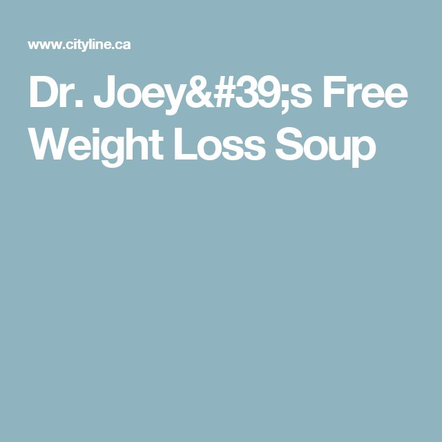 Dr. Joey's Free Weight Loss Soup