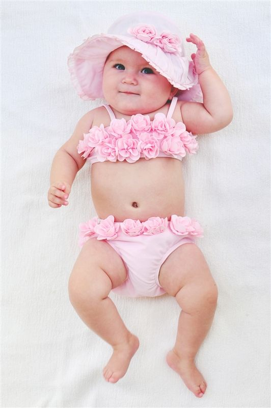 Infant baby girl swimsuit-5356