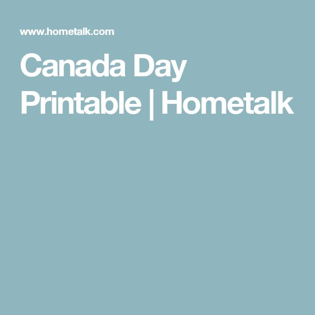 Canada Day Printable | Hometalk