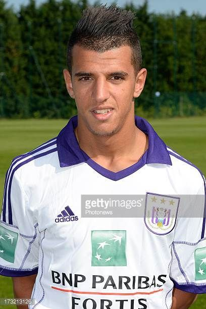 Nabil Jaadi of RSC Anderlecht pictured during the photocall session of RSC Anderlecht on July 10 2013 in Anderlecht Belgium