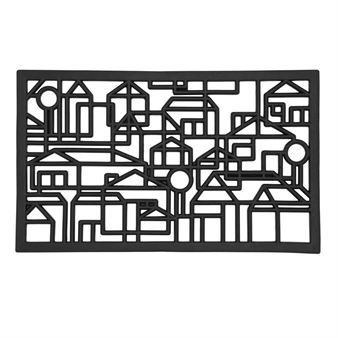 City from Dixie is a perforated rubber door mat that keeps it clean effectively. The door mat is easy to clean and makes it extra stylish in your hall. Can be used outdoors.
