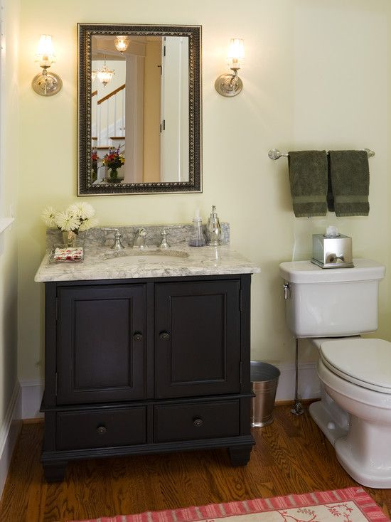 173 best images about adorable bathroom on pinterest for Powder room bathroom vanities