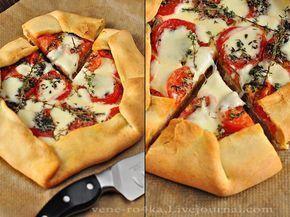Деревенская галета с помидорами, моцареллой и тимьяном | Наша кухня - рецепты на любой вкус!