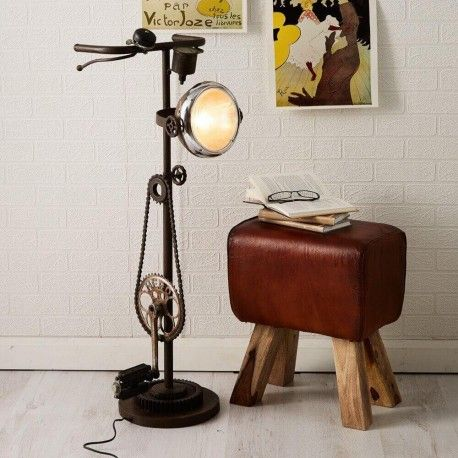 Upcycled Bike Floor Lamp. After the great success of our industrial pedal bike stools we have added these cool upcycled bike lamps to the range. The ideal gifts for bicycle enthusiasts.