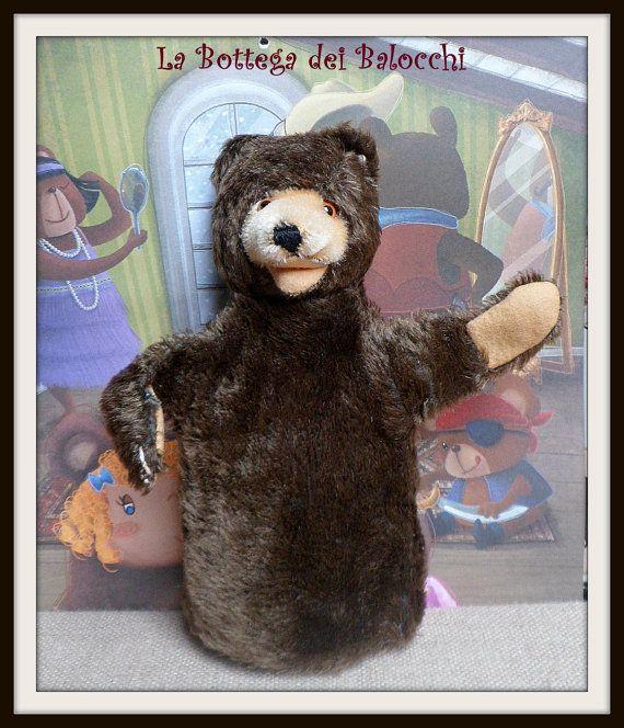Steiff Teddy Baby. Bellissima marionetta di Labottegadeibalocchi