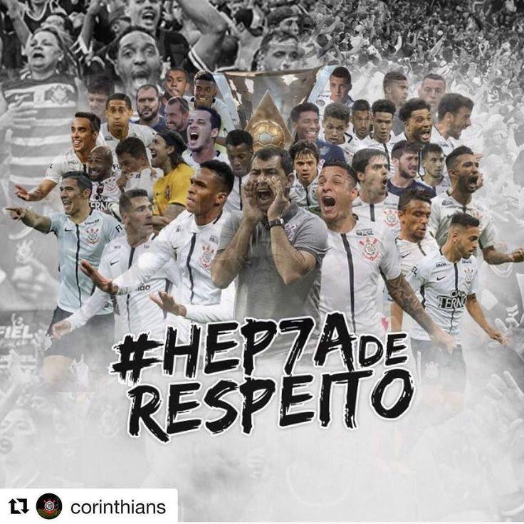 É simples assim! Eu sooooooooou CORINTHIANS!  #Hep7aDeRespeito #VaiCorinthians  #Repost @corinthians (@get_repost)  #Hep7aDeRespeito -  Foi jogo a jogo. Junto com a Fiel também foi fé e raça. Foi Corinthians! É CAMPEÃO BRASILEIRO! De quebra o Timão se torna o primeiro clube a conquistar o Brasileirão sete vezes desde 1971 quando a competição foi criada! Respeite quem pôde chegar onde a gente chegou.  #VaiCorinthians #Corinthians #CorinthiansTV #CORxFLU #Brasileirão #ArenaCorinthians…