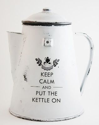 Keep Calm and Put The Kettle On #enamelware
