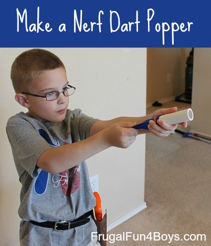 Send Nerf darts flying across this room with this homemade toy!