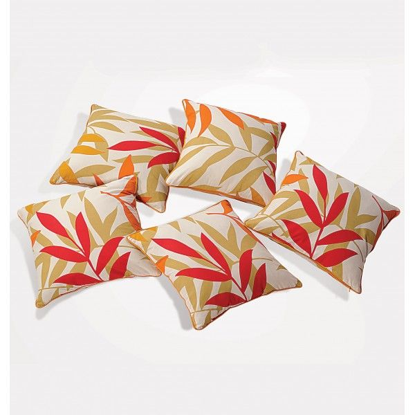 Yellow Leaves Cushion Cover- Make your seating area much livelier & fuller.