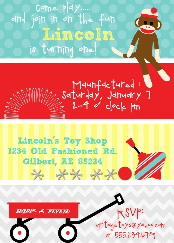 36 best Party  Vintage Toy images on Pinterest Birthday party - fresh birthday party invitation designs