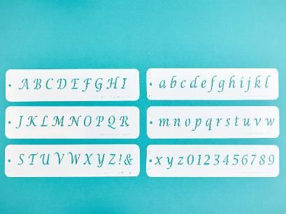 Create cakes that really say something! With the Alphabet Cake Stencil, simply…
