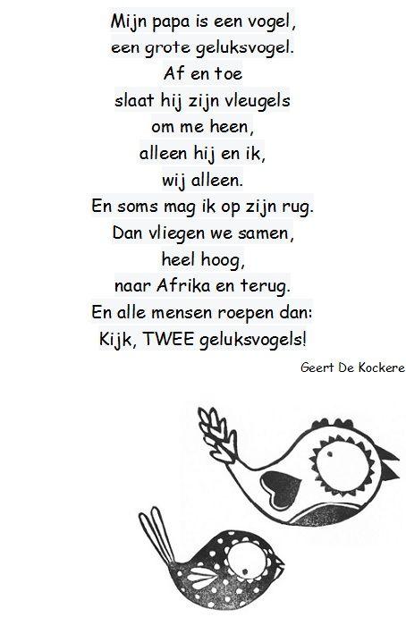 versje vaderdag Geert De Kockere