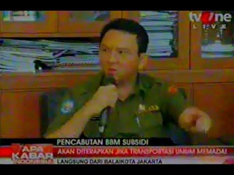 MARAH Ahok Kembali Semprot TV One Lagi 16 Desember 2013