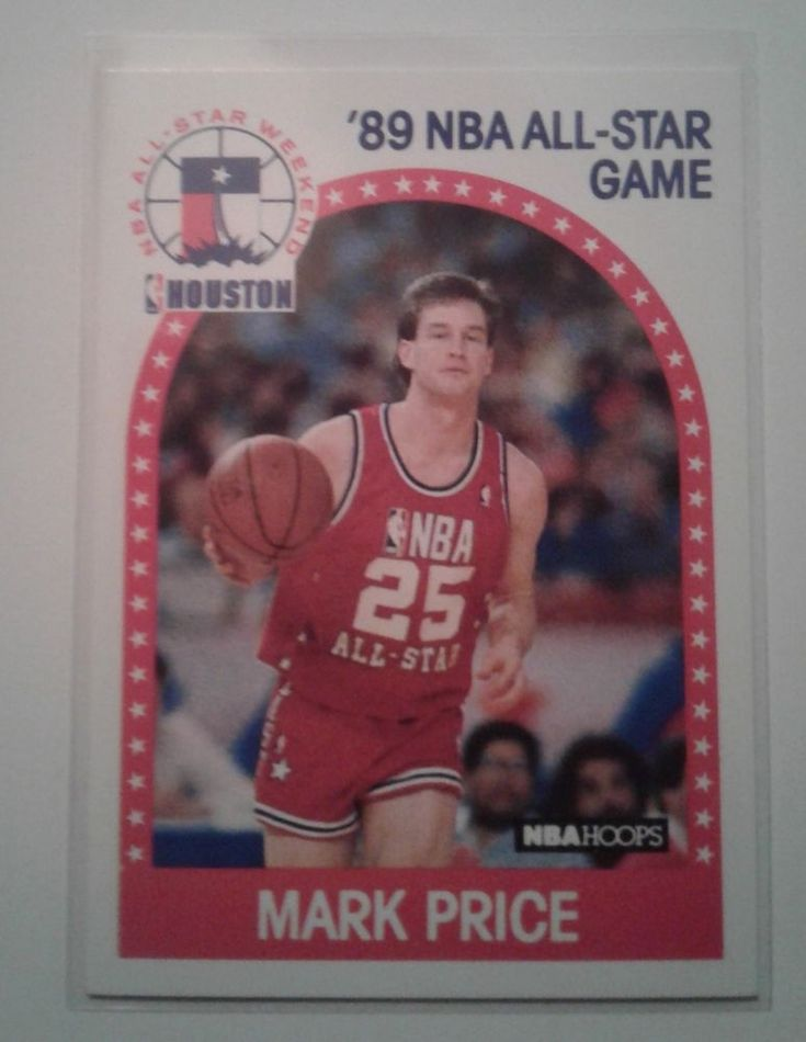 1989 NBA ALL-STAR GAME MARK PRICE CARD # 28  #HoustonRockets