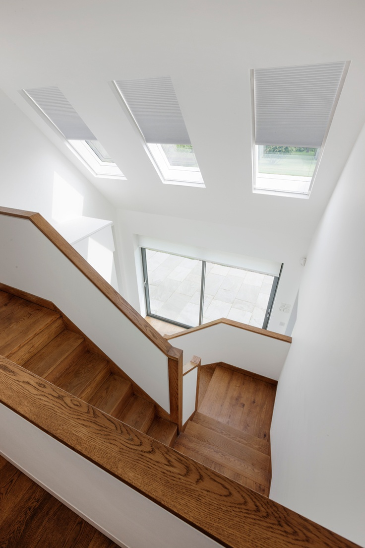 The Rooflight Company worked closely with the client on this project to ensure all their needs were met. The Rooflight Company supplied neo™ which provided the appearance of a single sheet of glass in the roof. A mixture of manual and motorised opening options were used.    Read the full case study here - http://www.therooflightcompany.co.uk/new-house
