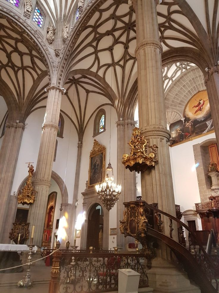 Inside the Cathedral of Santa Ana in Las Palmas