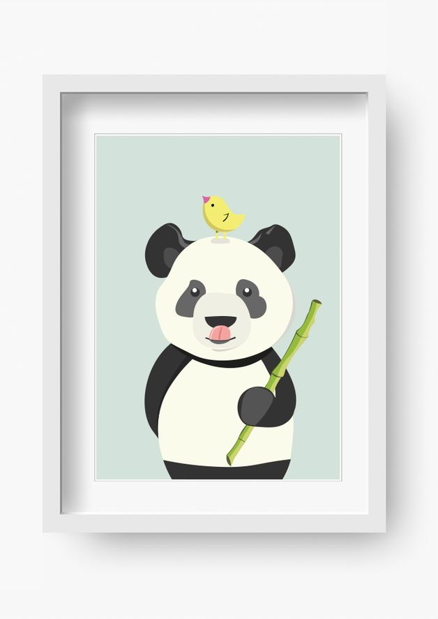 Bilder Kinderzimmer Poster Kinderbild Ben Bambus Gemälde