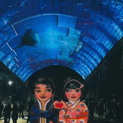 Mei+Kenji at Vivid Light Festival 2 Artprint