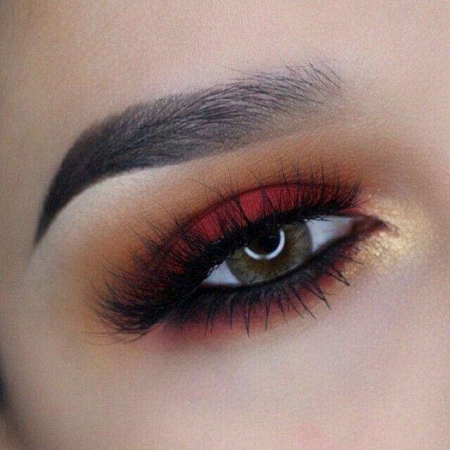 Sombra color rojo