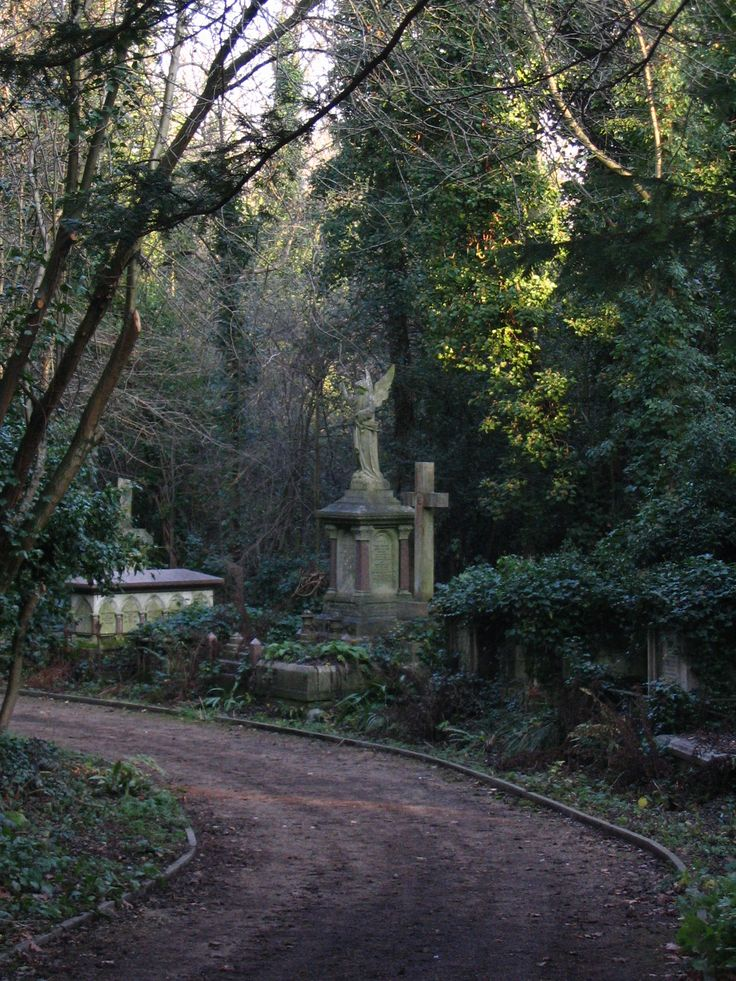 Highgate Cemetery, London....***I've been here y'all*** no photo does it justice