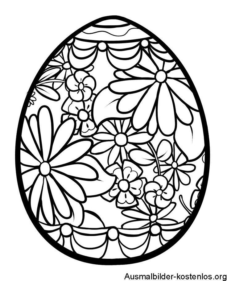 Ausmalbilder Ostereier Kostenlos   Coloring easter eggs ...