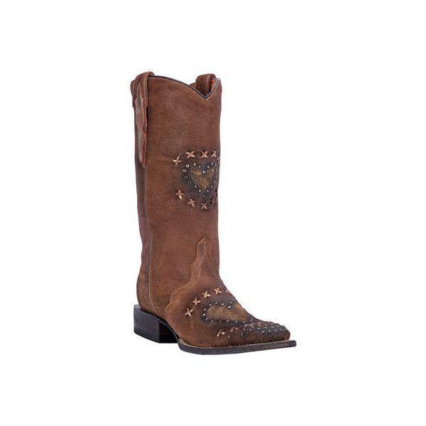 Women's Dan Post Boots Cowboy Certified Shabby Chica DP3911 Cowboy... ($170) ❤ liked on Polyvore featuring shoes, boots, brown, western style boots, brown cowgirl boots, cowboy boots, leather cowboy boots and western boots shoes