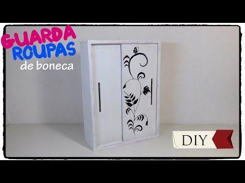 Como Fazer Guarda Roupa com Porta de Correr para Barbie e Outras Bonecas (Escala 1/6) - YouTube