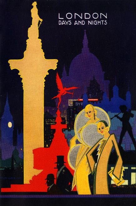 Vintage London travel poster, 1930s.