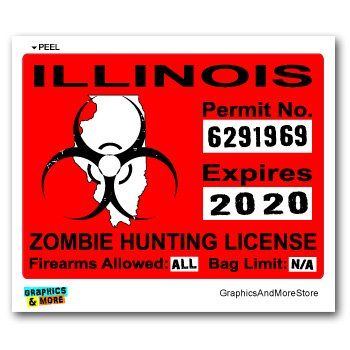 227 best images about zombie hunting permits on pinterest for Fishing license illinois