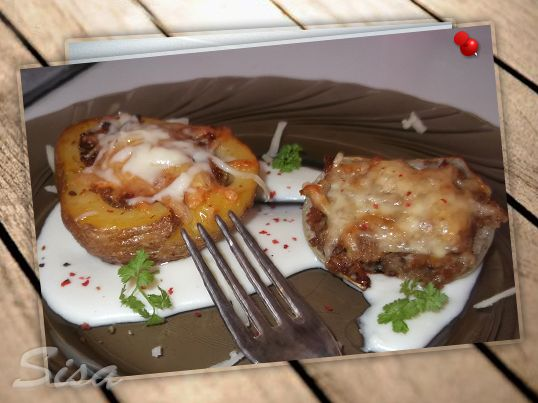 Šampiňony plnené mletým mäsom. | Hrnčekové recepty