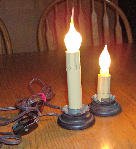 Lot of 2 Electric Window Candle Stick Lights by 3ShabbyGals