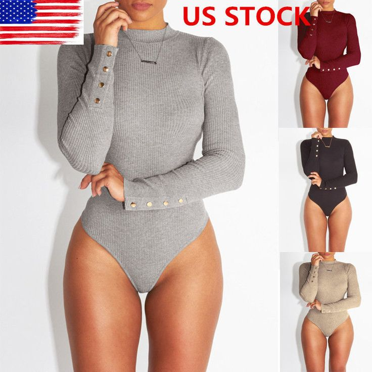 Nice Awesome US Womens Leotard Top Crew Neck Bodysuit Long Sleeve Shorts Romper Mini Playsuit 2017 2018 Check more at http://24shopme.gq/fashion/awesome-us-womens-leotard-top-crew-neck-bodysuit-long-sleeve-shorts-romper-mini-playsuit-2017-2018/