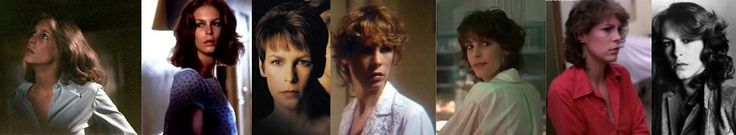 Jamie Lee Curtis, the original Scream Queen/Final Girl. Halloween I, II, H20, Prom Night, Terror Train, The Fog and Road Games.