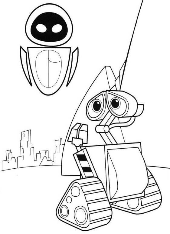 10 cute free printable wall e coloring pages online