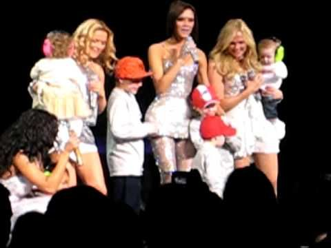 """Spice Girls """"Mama"""" - Live - YouTube - 'Mama' on """"The Return of the Spice Girls"""" tour (2008) is performed with the Spice Babies! Sadly, Mel C's daughter Scarlet, Mel B's youngest daughter Madison, and Victoria's youngest child, her daughter Harper, were not born yet. Gotta love little Cruz Beckham break dancing at the end!"""