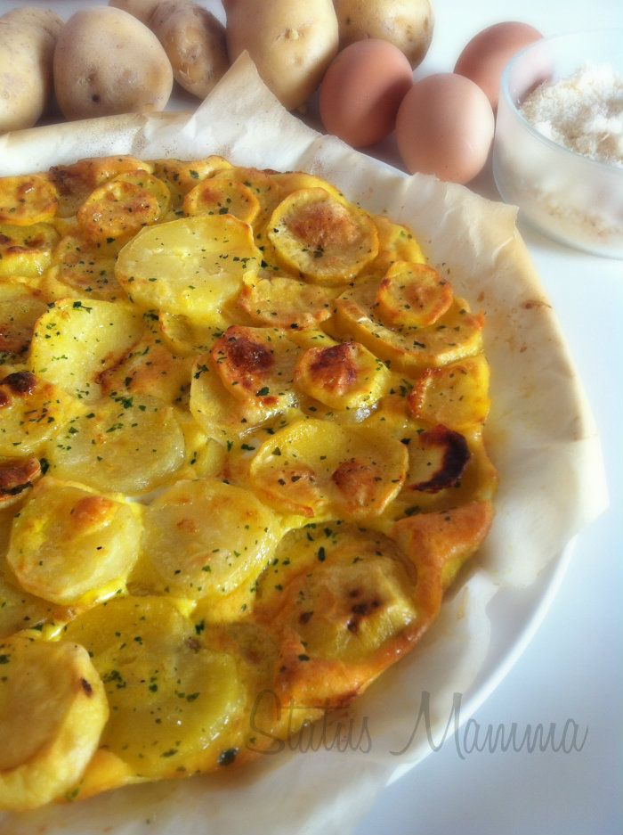 Tatin salata di patate cottura al forno