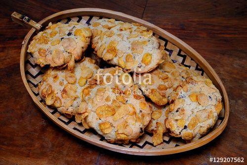 Biscotti di corn flakes e gocce di cioccolato