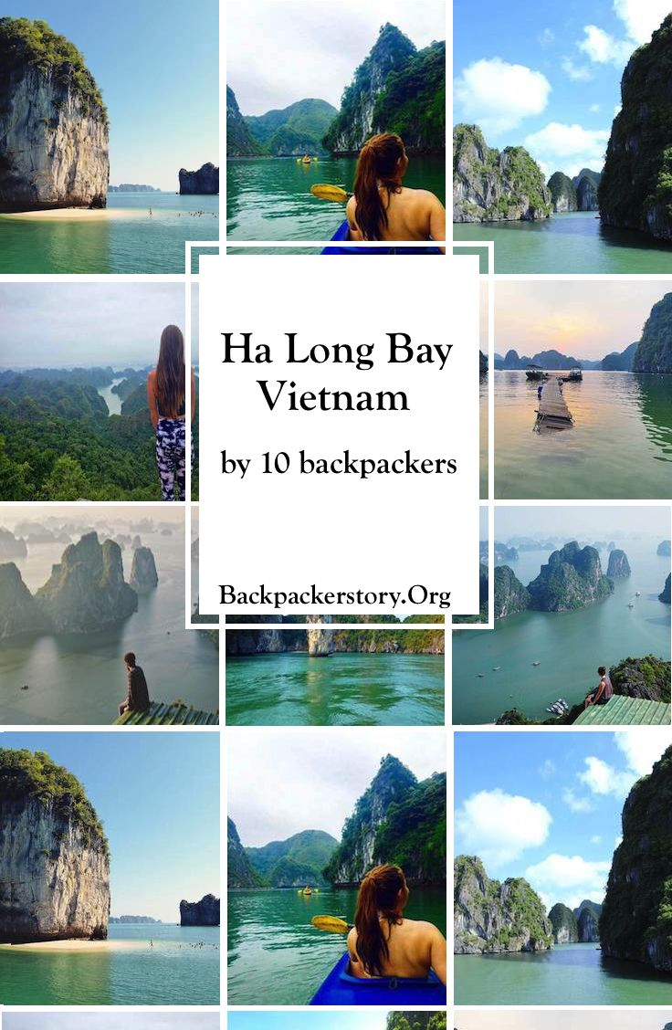 Ha Long Bay, Vietnam. Experienced by 10 different Backpackers
