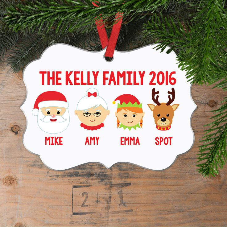 Personalized Family Christmas Ornament - Family Christmas Gift - Family christmas decoration - Custom Family Christmas Ornament