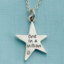 One In A Million Sterling Silver Star Necklace