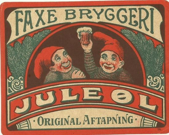 CHRISTMAS BEER LABEL 1930S