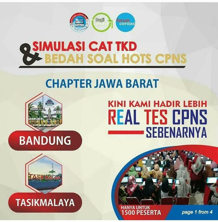 Simulasi Cat Tkd Bedah Soal Hots Cpns Bandung Desember 2019 Desember